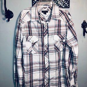 HELIX MENS plaid button down casual shirt 👔